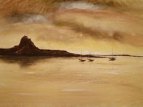 Lindisfarne Castle Holy Island England by Hazel Millington