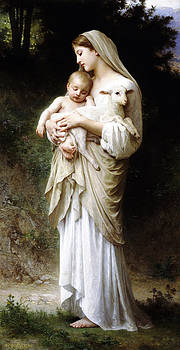 L'Innocence by Bouguereau by Bouguereau