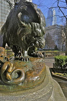 Lion Crushing Serpent by Brynn Ditsche