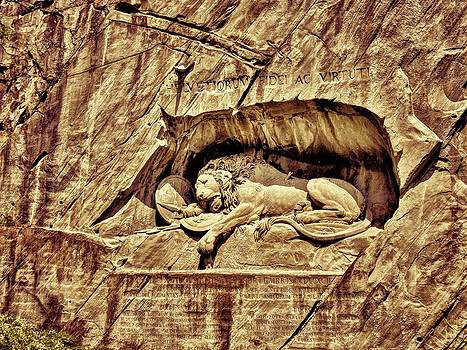 Lion Monument Lucerne by Ravi S R