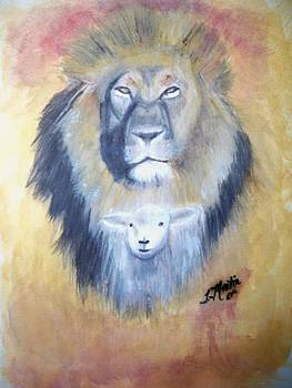 Lion of Juda Lamb of God by Tammy McClung
