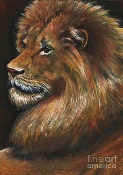 Lion Portrait by Alga Washington