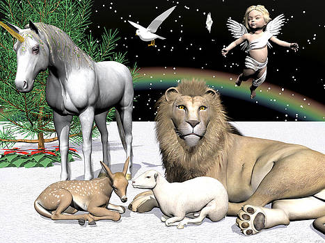 Lions and Lamb by Michele Wilson