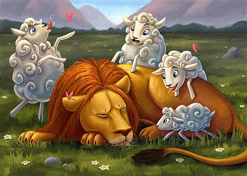 Lions never loose sleep over the opinion of sheep by Michael Trujillo
