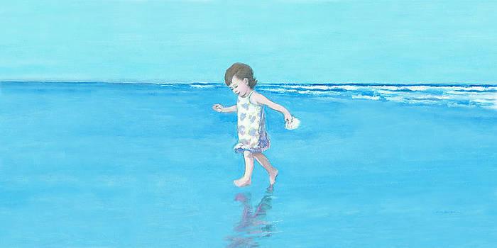 J REIFSNYDER - Little Beach Girl Panorama