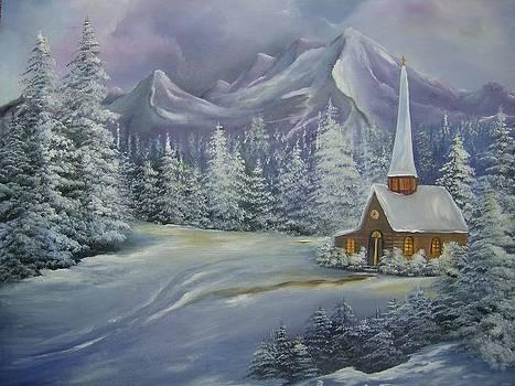 Little Church in Winter  by Debra Campbell