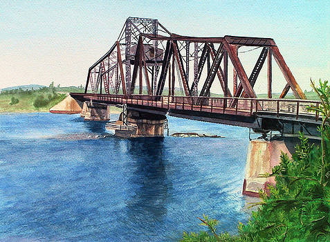 Little Current Bridge by Kathy Dolan
