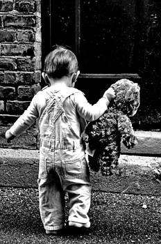 Little Girl and Teddy Bear by Jon Van Gilder