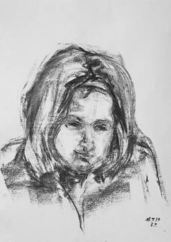 Little Girl With Hairband by Barbara Pommerenke