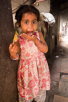 Little girl with her sweets 2 by Stewart Granger