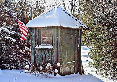 Little Green Guard House by Judy Palkimas