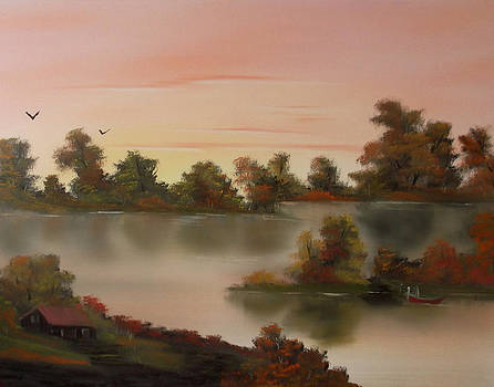 Little Haven at Sunset by Cynthia Adams