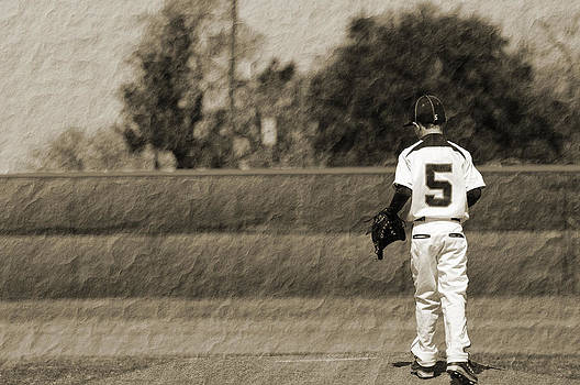 Little league baseball player  by Tammy Abrego