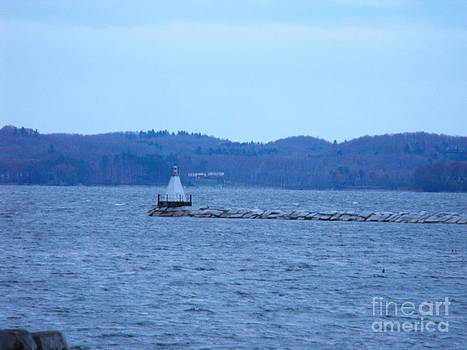 Little Lighthouse at Lake Champlain by Lisa J Gifford