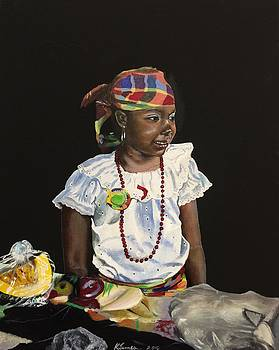 Little Market Vendor by Kelvin James