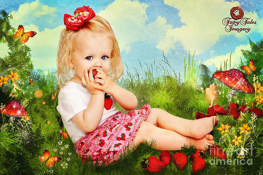 Little Strawberry Girl by Fairy Tales Imagery Inc