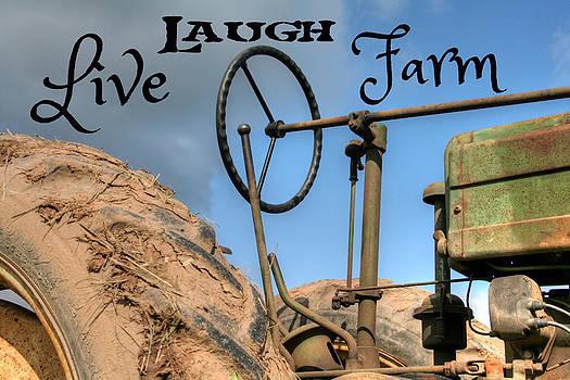 Live Laugh Farm Tractor by Heather Allen