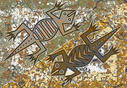 Lizards spring dance by Sergey Khreschatov