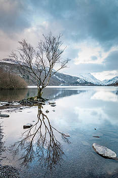 Llyn Padarn Winter Reflections by Christine Smart