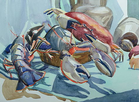 Lobsters and Crab by Margaret Montgomery