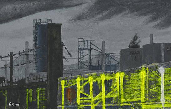 Lock Lane Acrylic on Canvas by David Rives