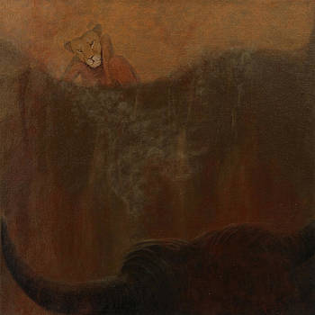 Loewin und Stier II_Lioness and Bull II by Gabriele Frey