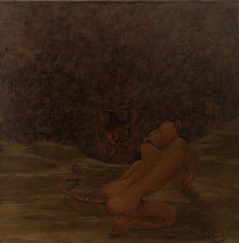 Loewin und Stier I_Lioness and Bull I by Gabriele Frey