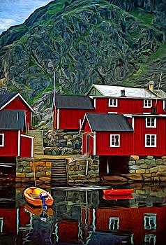 Steve Harrington - Lofoten Fishing Huts - Paint 2