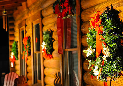 Log Cabin Christmas by Reflections by Brynne Photography