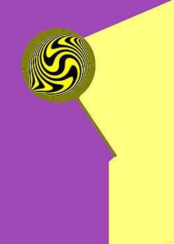 Lolly Pop Art - Purple and Yellow by Gillian Owen