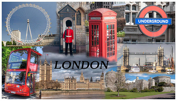 London Collage by Geraldine Alexander