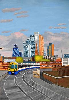 London overland train-Hoxton station by Magdalena Frohnsdorff