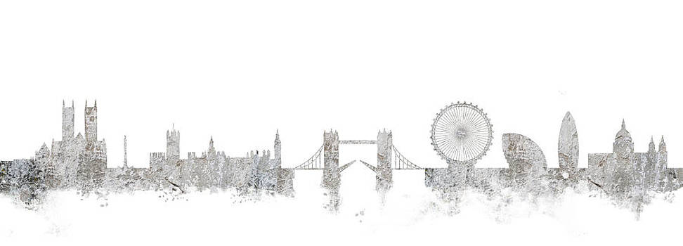London Skyline England by Lila Shravani