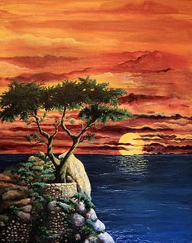 Lone Cypress by Mary Palmer
