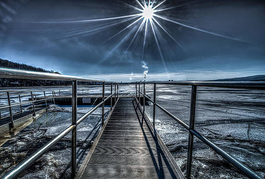 Long Dock on the icy Hudson by Rafael Quirindongo