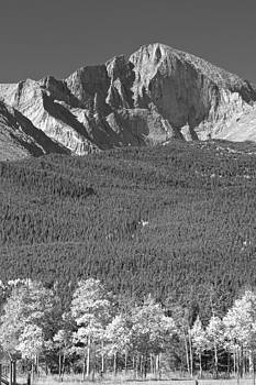 James BO  Insogna - Longs Peak Autumn View in Black and White