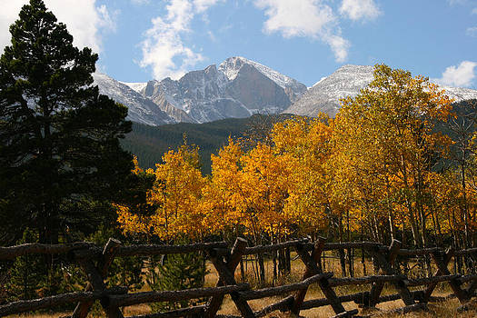 Longs Peak in Autumn by Chris Wells