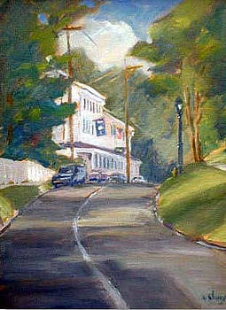 Looking up to the Griswald Inn by Ken Shuey