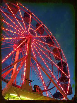 Looming Ferris Wheel by Anne Sterling