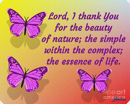Lord I Thank You for the Beauty of Nature by Pharris Art