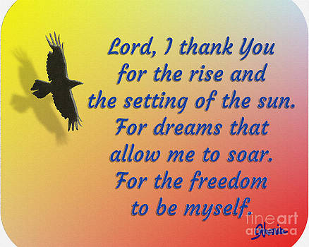 Lord I Thank You for the Freedom by Pharris Art