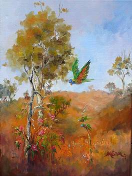 Marie Green - Lorikeets - Study for 1770