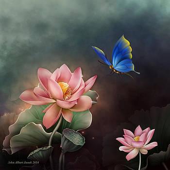 Lotus Flower Pink by John Junek