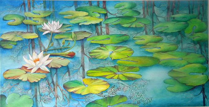 Lotus Lilies 1 by Miriam Besa