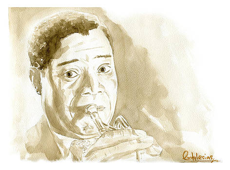 Louis Armstrong by David Iglesias