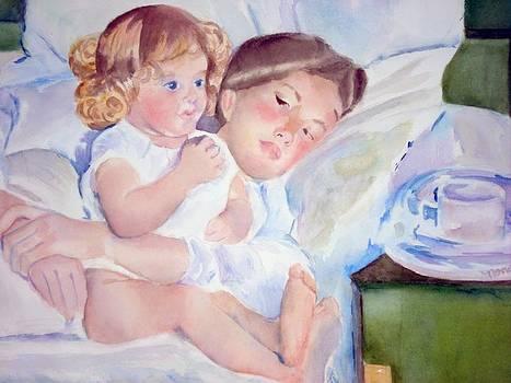Lounging in Bed by Nancy Pratt