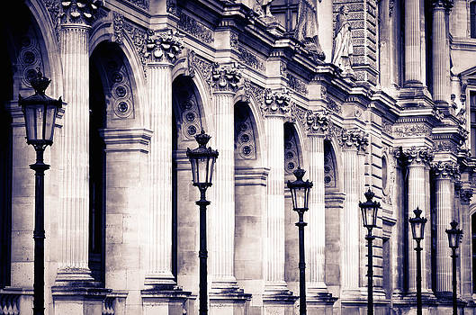 Louvre Museum Monochrome by Russ Bishop