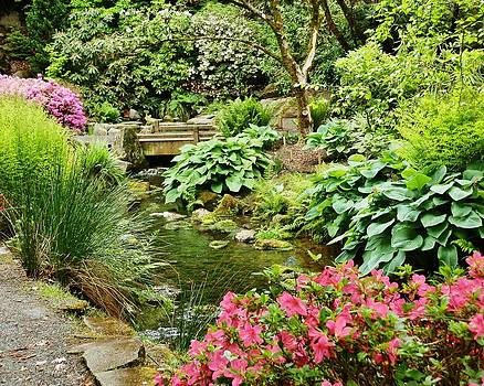 Love a Garden Bridge by VLee Watson