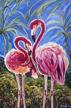 Love Flamingos  by Yelena Rubin