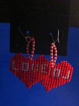 Love Handwoven Earrings by Kimberly Johnson